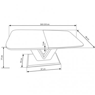 Valgomojo stalas H4604 8