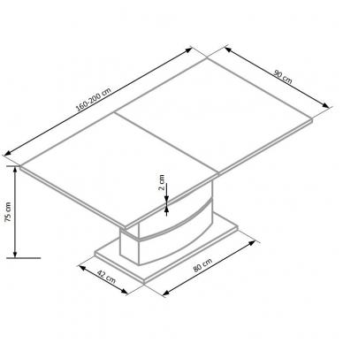 Valgomojo stalas H4612 7