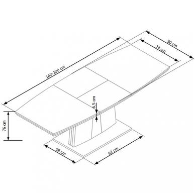 Valgomojo stalas H4625 8