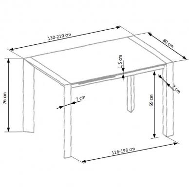Valgomojo stalas H4642 7