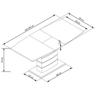 Valgomojo stalas H4645 7