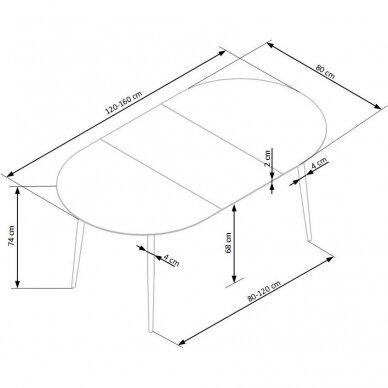 Valgomojo stalas H6010 18