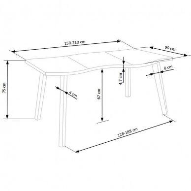 Valgomojo stalas H6012 16
