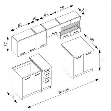 Virtuvės komplektas H4807 2