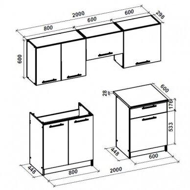 Virtuvės komplektas H4816 2